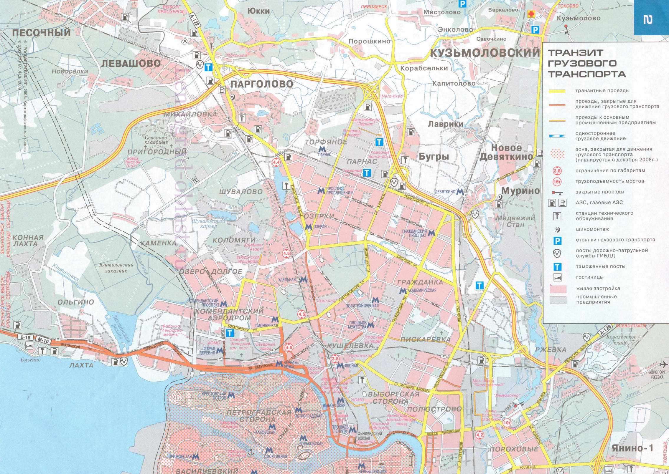 карта спб схема проезда до