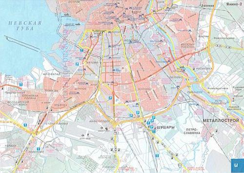 Карта санкт петербурга карта транзита