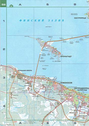Карта СПБ автомобильная.
