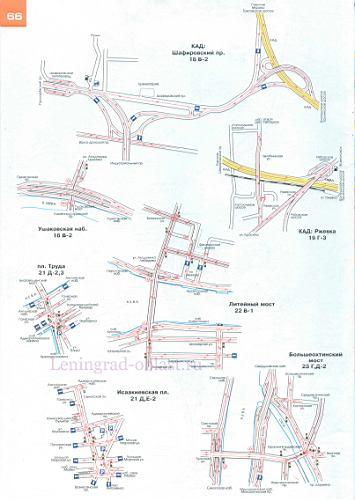 Схемы транспортных развязок в центре Санкт-Петербурга.